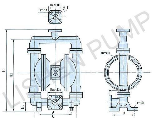 qby型气动隔膜泵结构简单